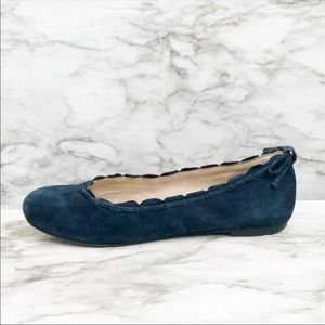 Jack Rogers Lucie Navy Blue Suede Ballet Flats